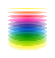 Rainbow cylinder layers vector image vector image