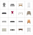 realistic comfortable commode lounge and other vector image vector image