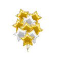 realistic detailed 3d golden and white star vector image vector image