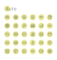 Round Auto Icons vector image vector image