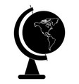 school globe map of america peace world symbol vector image vector image