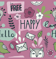 seamless pattern with icons and speech bubbles vector image vector image