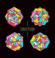 Set of geometric rosette vector image