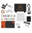 Set of professional tattoo equipment No outline vector image vector image