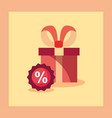 shopping and gift box design vector image vector image