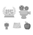 silver camera a bronze prize in the form of a tv vector image vector image