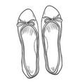 sketch - pair women ballet flats top view vector image vector image