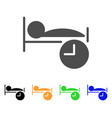 sleep time flat icon vector image vector image