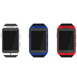 Smartwatch icon set vector image