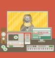 sound recording studio vector image vector image