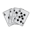 spades suit french playing cards related icon icon vector image vector image