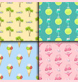 summer time seamless pattern beach sea shore vector image