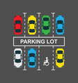 top view of a city car parking lot vector image