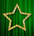 transparent golden star vector image vector image