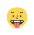 trendy tongue emoji smile eps10 vector image vector image