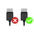 two icons usb supported by computer vector image