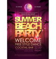 Typography Disco background Summer beach party vector image vector image
