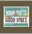 vintage summer adventure print design poster vector image vector image