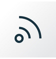 wifi outline symbol premium quality isolated feed vector image vector image