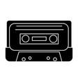 audio tape icon black sign vector image