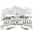 Church landscape vector image