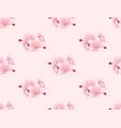 sakura cherry blossom flower seamless on pink vector image