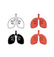 set of lung icon art vector image