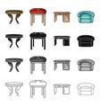 a dining table a stool an interior a desk an vector image vector image