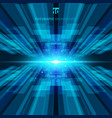 abstract blue virtual technology concept vector image