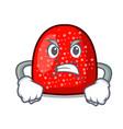 angry gumdrop mascot cartoon style vector image vector image