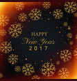 beautiful snowflakes background with happy new vector image vector image