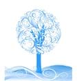 beautiful winter tree design vector image vector image