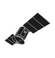 black and white communication satellite silhouette vector image