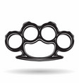 brass knuckles sign vector image