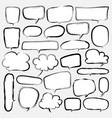bubbles set doodle style comic balloon cloud vector image vector image