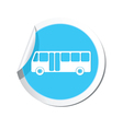 bus icon round blue vector image