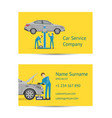 business card template for auto service vector image vector image