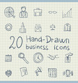 business drawing icons vector image