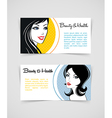 Cards with women vector image vector image