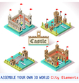Castle 03 Tiles Isometric vector image