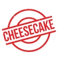 Cheesecake rubber stamp vector image