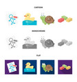 children toy cartoonflatmonochrome icons in set vector image