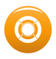 Circle graph icon orange