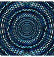 Circle ornament background made of blue triangles vector image