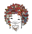 City girl concept for your design vector image