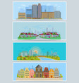 cityscape urban city landscape with vector image