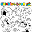 coloring book with pets 1 vector image vector image