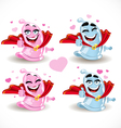 Condom smiles Superman and the Superwoman vector image