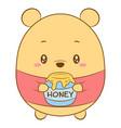 cute drawing winnie pooh bear vector image vector image