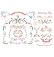 cute wedding template setfloral decor element vector image vector image